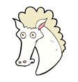 comic cartoon horse head vector image vector image