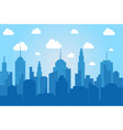 comic cityscape light background vector image vector image