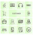 customer icons vector image vector image