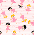 Cute ballerinas seamless Pattern vector image