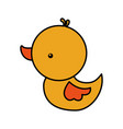 cute rubber duck toy bathroom kid vector image
