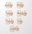 Days Decorative Text vector image vector image