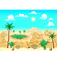 Desert with oasis vector image vector image