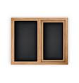 double casement wooden window mockup template vector image