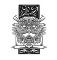 dragon japanese icon line art dr vector image vector image