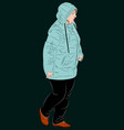 female dressed in winter clothes vector image vector image