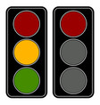 flat easy-to-edit traffic lamp traffic light vector image