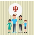 Flat of family design vector image vector image