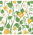 floral seamless pattern with blooming spring vector image vector image