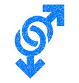 gay symbol grunge icon vector image vector image