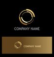 gold round target company logo vector image vector image
