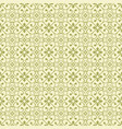 green flower seamless pattern background vector image vector image