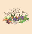 happy thanksgiving day horizontal poster with vector image vector image