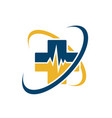 healthcare medical logo icon for ambulance vector image vector image