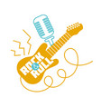 icon rock-n-roll day vector image vector image