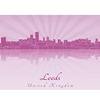 Leeds skyline in purple radiant orchid vector image vector image