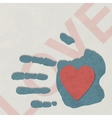 Loving hand vector image vector image