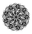 mandala hand drawing tattoo round vector image vector image