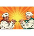 multi-ethnic chefs in the pose of a promoter vector image vector image
