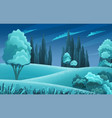 night forest or countryside landscape trees vector image vector image