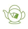 organic tea sign vector image vector image