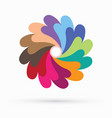 rainbow fan spin colorful sign abstract circle vector image