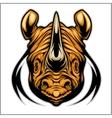 Rhino athletic design complete with rhinoceros vector image