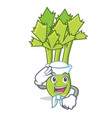 sailor celery character cartoon style vector image vector image