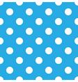 seamless blue polka dot vector image