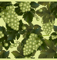seamless pattern background green wine grapes vector image
