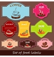 set of food labels vector image vector image