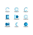 set of initial letter c logo template design vector image vector image