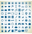 set of media icons vector image vector image