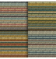 Set of seamless patterns with knitted stripes vector image