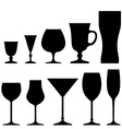 Set of symbols and icons glasses vector image vector image