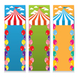 Set Of Three Colorful Circus Theme Vertical Banner vector image vector image