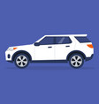 side view a sport utility vehicle no people vector image