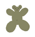 teddy bear in cartoon style with big limbs and vector image vector image