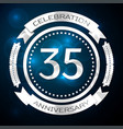 thirty five years anniversary celebration with vector image vector image