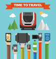 time to travel modern concept flat vector image vector image
