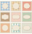 Vintage patterned card templates set vector image vector image
