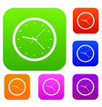 wall clock set color collection vector image vector image