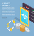 wireless payments internet info page vector image vector image