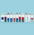 food service occupation team standing in uniform vector image