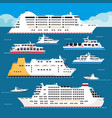 sea cruise liner flat vacation passenger vector image