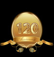 120th golden anniversary birthday seal icon vector image vector image
