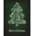 abstract christmas tree with snowflake vector image