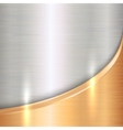 abstract precious metal background with curve vector image vector image