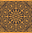 arabic floral pattern orange geometric ornament vector image
