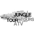 atv jungle tours in mexico text word cloud concept vector image vector image